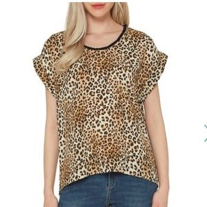 NWT Pleione Leopard Blouse (2) (Anthropologie)